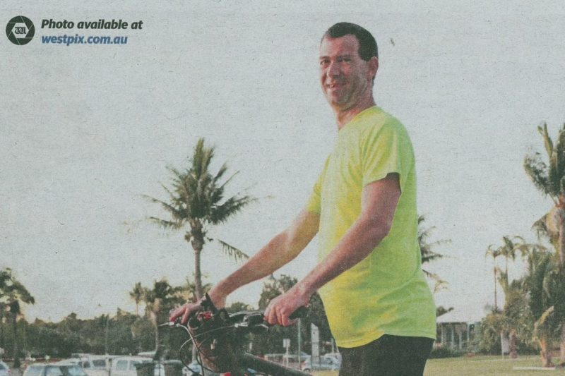 Matt Campbell cycles Broome to Perth for Telethon