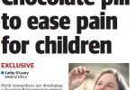 Chocolate pill to ease pain for children