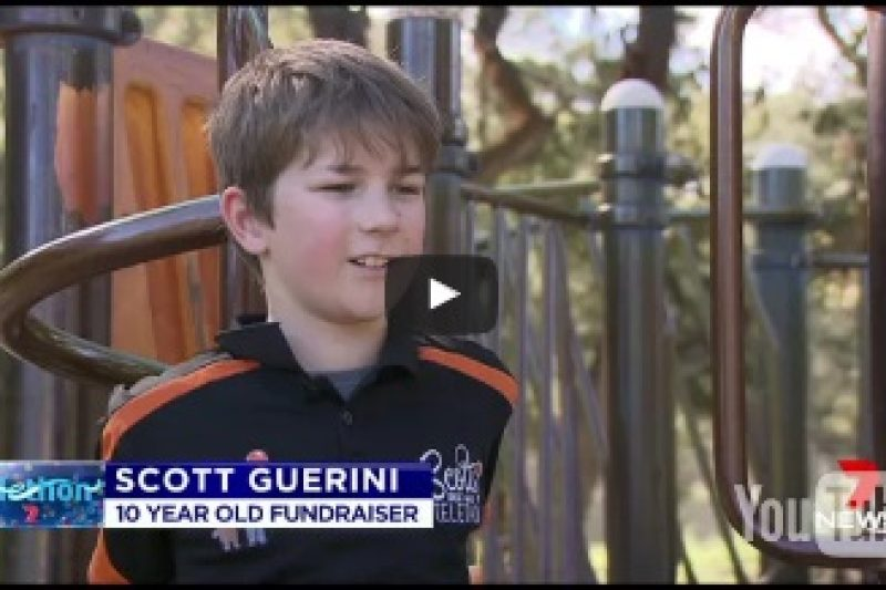 Telethon's Biggest Littlest Fundraiser Scott takes his marathon internationally